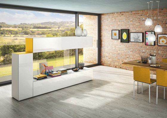 LAGO,Bookcases & Shelves,architecture,building,design,floor,flooring,furniture,home,house,interior design,living room,property,room,shelf,table,tile,wall,yellow