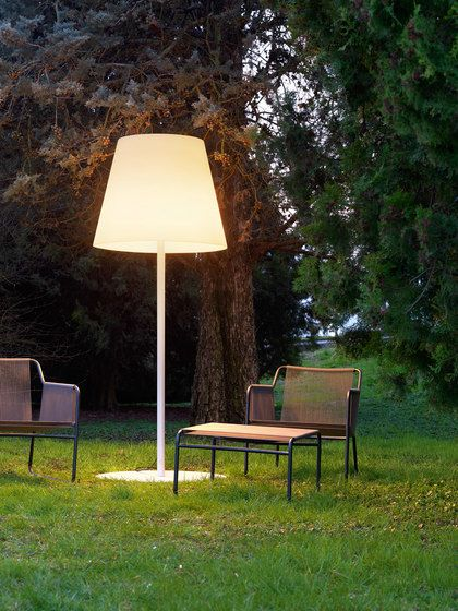 FontanaArte,Outdoor Lighting,furniture,grass,lamp,lampshade,light fixture,lighting,lighting accessory,room,table,tree