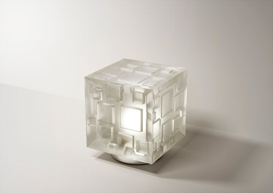 FontanaArte,Table Lamps,architecture,design,transparent material,white