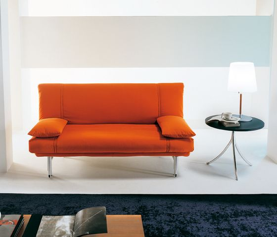 Bonaldo,Beds,coffee table,couch,floor,furniture,interior design,living room,orange,room,sofa bed,studio couch,table,yellow