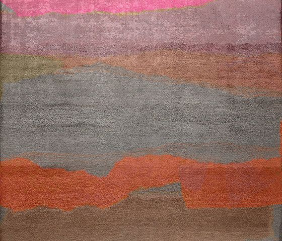 Henzel Studio,Rugs,acrylic paint,brown,modern art,orange,painting,red,wall