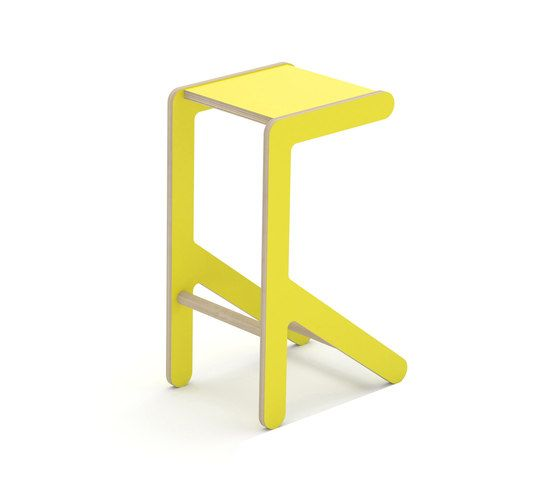 KLOSS,Stools,bar stool,furniture,stool,table,yellow