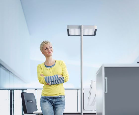 H. Waldmann,Floor Lamps,arm,ceiling,design,lamp,light,light fixture,lighting,shoulder,standing,t-shirt,white,yellow