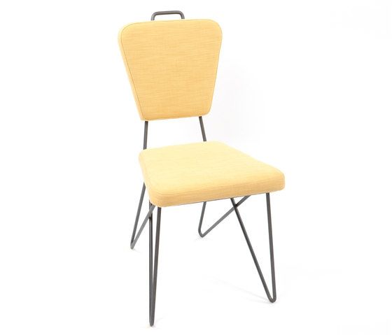 AXEL VEIT,Dining Chairs,beige,chair,furniture,yellow