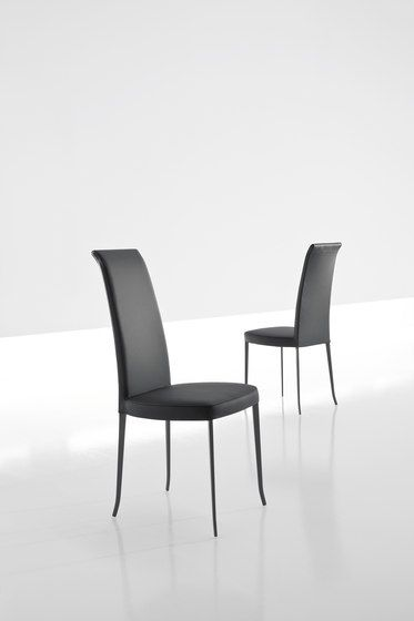 Bonaldo,Dining Chairs,black,chair,design,furniture,line,material property,room,table,white