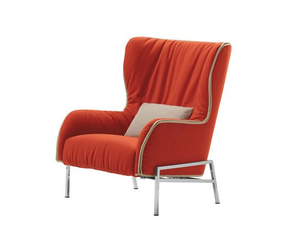De Padova,Armchairs,chair,furniture,orange,red