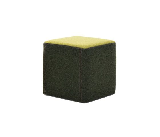 Martela Oyj,Footstools,furniture,green,ottoman,rectangle,stool,yellow