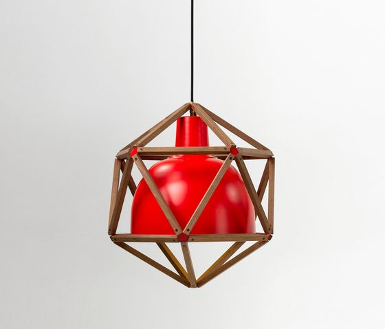 Röthlisberger Kollektion,Pendant Lights,ceiling,ceiling fixture,lamp,light,light fixture,lighting,red,triangle