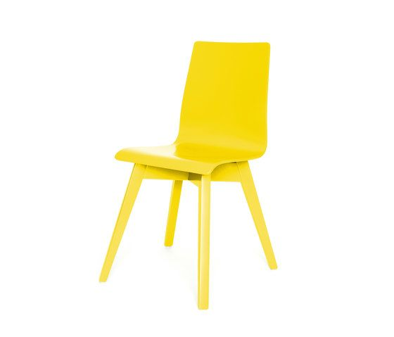 De Zetel,Dining Chairs,chair,furniture,plastic,yellow