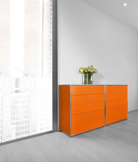 Dauphin Home,Cabinets & Sideboards,chest of drawers,cupboard,drawer,floor,furniture,interior design,material property,orange,room,sideboard,wall