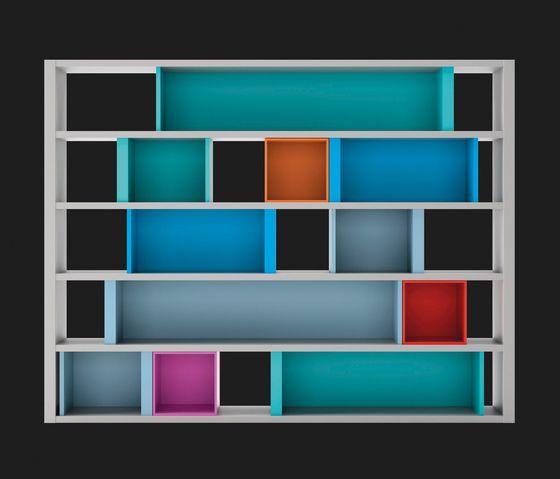 LAGRAMA,Bookcases & Shelves,bookcase,furniture,rectangle,shelf,shelving,turquoise