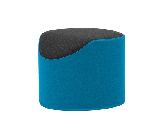 Softline A/S,Footstools,aqua,azure,blue,cylinder,electric blue,teal,turquoise