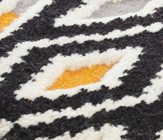 Miinu,Rugs,black,brown,close-up,fur,orange,pattern,textile,white,wool,yellow