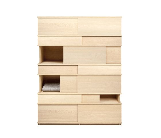OBJEKTEN,Cabinets & Sideboards,beige,bookcase,chest of drawers,chiffonier,cupboard,drawer,furniture,plywood,shelf,shelving,wood