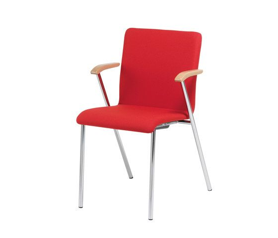 Stechert Stahlrohrmöbel,Office Chairs,chair,furniture,red