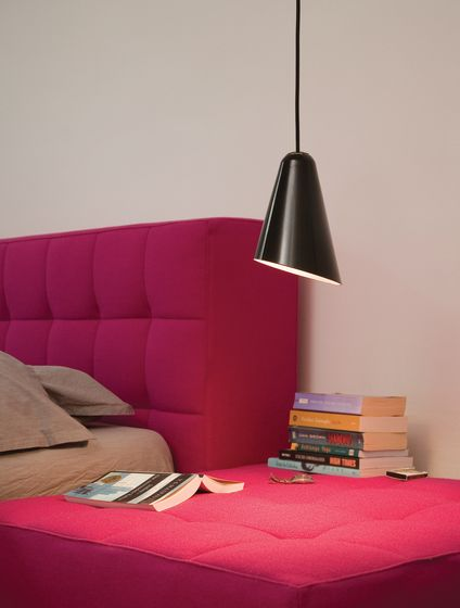 Formagenda,Pendant Lights,bed,bedroom,couch,floor,furniture,interior design,lamp,lampshade,light fixture,lighting,lighting accessory,magenta,material property,pink,purple,room,table,violet,wall