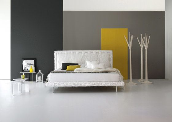 Bonaldo,Beds,bed,bed frame,bed sheet,bedroom,design,floor,furniture,interior design,material property,mattress,nightstand,property,room,wall,yellow