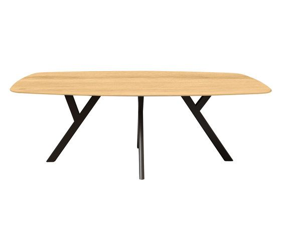 Dietiker,Dining Tables,coffee table,furniture,line,outdoor table,oval,plywood,rectangle,table,wood