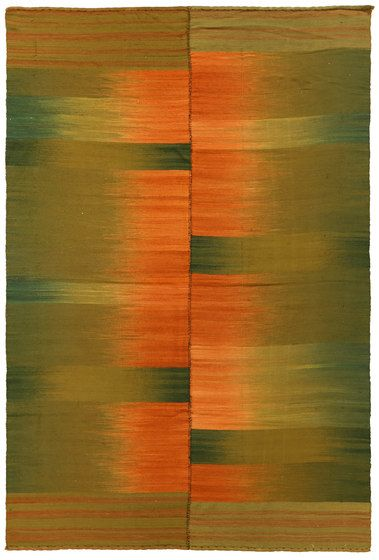 Zollanvari,Rugs,brown,green,modern art,orange,painting,rectangle,yellow
