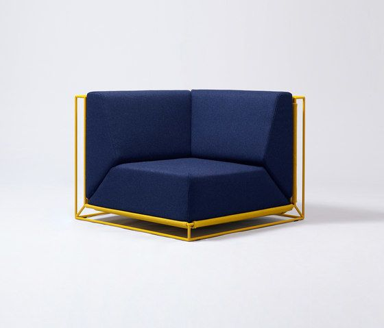 Comforty,Lounge Chairs,chair,cobalt blue,electric blue,furniture,line,yellow