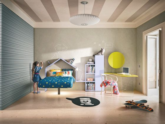 LAGO,Beds,architecture,bed,bedroom,building,ceiling,design,floor,furniture,house,interior design,living room,room,wall,yellow