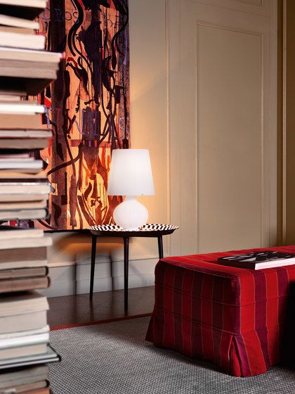 FontanaArte,Table Lamps,curtain,design,floor,furniture,interior design,lamp,lampshade,lighting,living room,orange,red,room,table,tree,wall