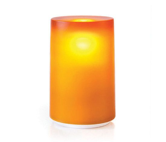 Neoz Lighting,Table Lamps,candle,cylinder,flameless candle,light,lighting,orange,yellow