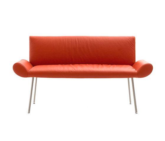 Quinti Sedute,Benches,couch,furniture,orange,red,studio couch
