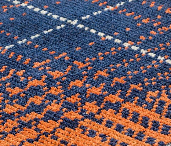 kymo,Rugs,blue,close-up,crochet,design,knitting,orange,pattern,textile,wool,woolen,woven fabric
