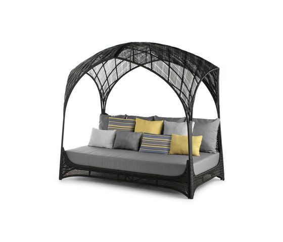 Kenneth Cobonpue,Outdoor Furniture,arch,architecture,bed,canopy bed,furniture,iron,studio couch,tent