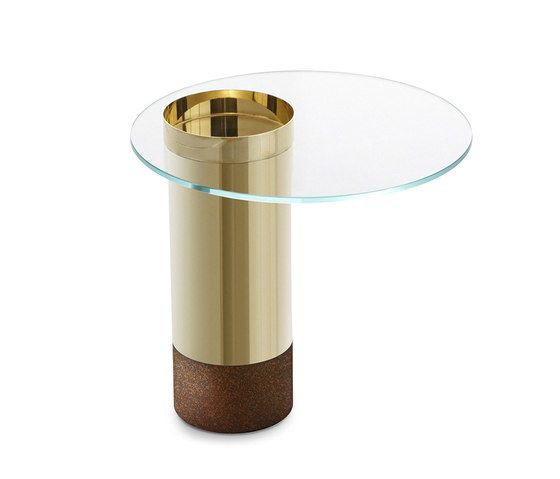 Gallotti&Radice,Coffee & Side Tables,brass,cylinder,metal,table