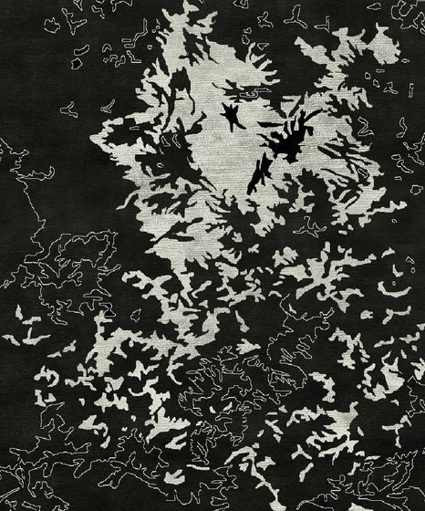 Living Divani,Rugs,black,black-and-white,branch,design,leaf,monochrome,pattern,tree