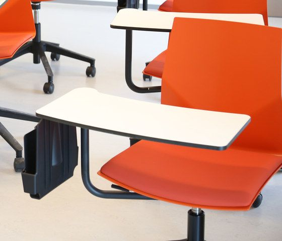 Four Design,Office Chairs,armrest,chair,desk,furniture,material property,office chair,orange,table