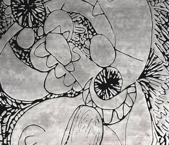 Henzel Studio,Rugs,black-and-white,botany,design,leaf,pattern,visual arts