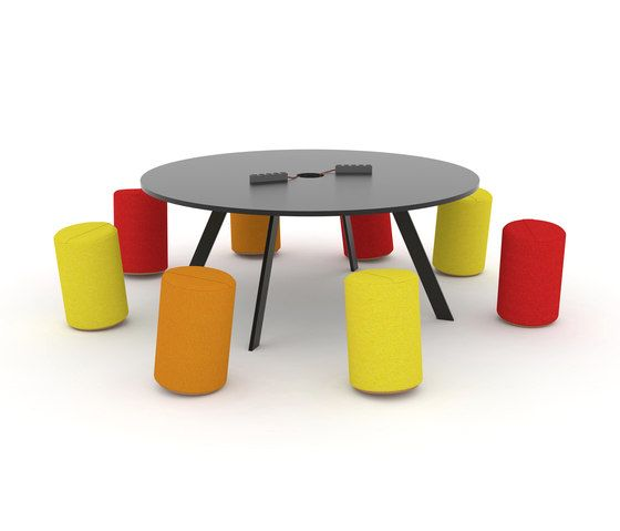 JENSENplus,Office Tables & Desks,coffee table,furniture,orange,outdoor table,stool,table,yellow