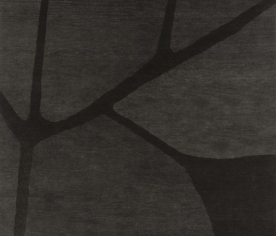 KRISTIINA LASSUS,Rugs,black,branch,brown,design,line,monochrome,pattern,shadow,tree
