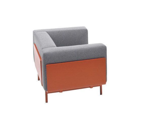 Giulio Marelli,Lounge Chairs,chair,club chair,furniture,orange