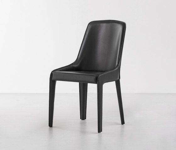 Bonaldo,Dining Chairs,black,chair,furniture,leather,material property