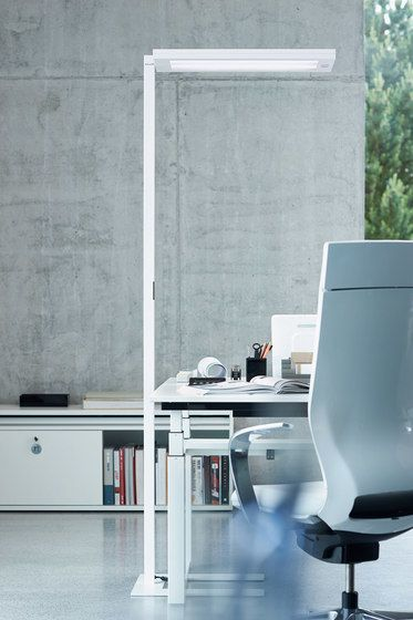 H. Waldmann,Floor Lamps,desk,floor,furniture,interior design,material property,office chair,room,table,wall