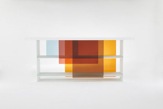 Glas Italia,Cabinets & Sideboards,design,furniture,line,orange,rectangle,shelf,shelving,wall,yellow