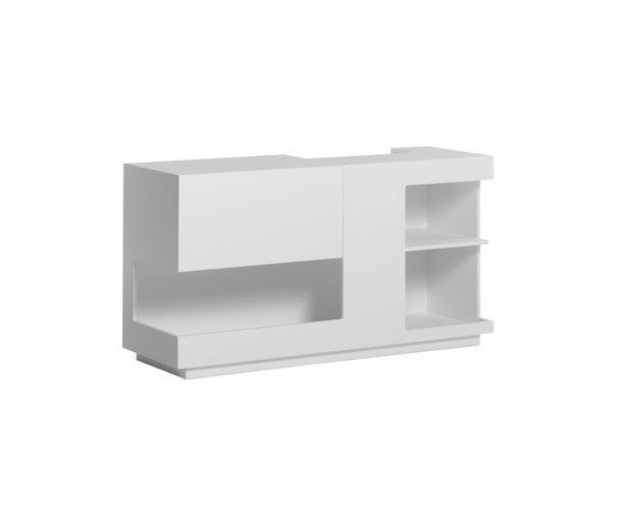 Atelier Pfister,Cabinets & Sideboards,bookcase,furniture,shelf,shelving,sideboard,table