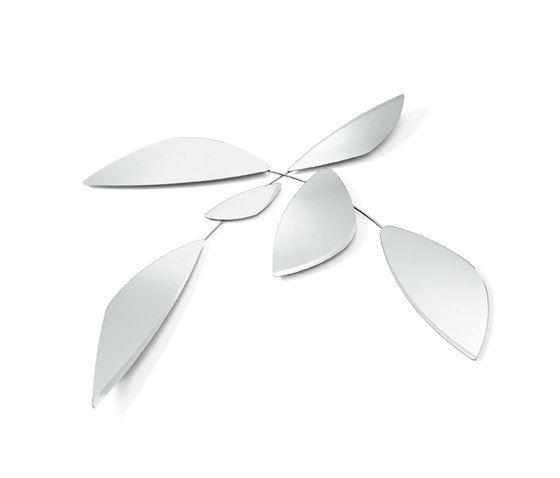 Gallotti&Radice,Mirrors,leaf,silver,white