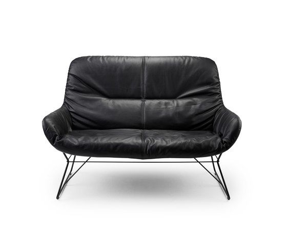 Freifrau Sitzmöbelmanufaktur,Sofas,black,chair,couch,furniture,leather