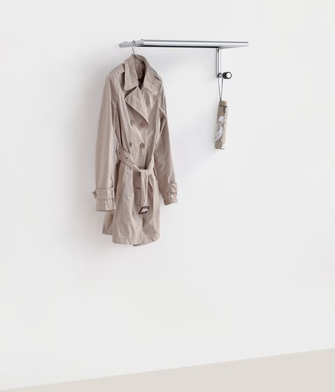 mox,Hooks & Hangers,beige,clothes hanger,clothing,coat,outerwear,overcoat,robe,trench coat,white