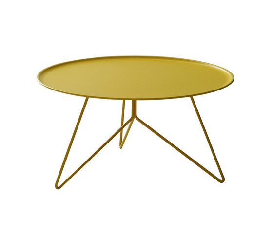 miniforms,Coffee & Side Tables,coffee table,end table,furniture,outdoor table,oval,table,yellow