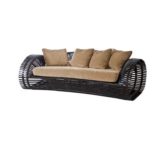 Kenneth Cobonpue,Sofas,beige,brown,comfort,couch,furniture,loveseat,outdoor furniture,sofa bed,studio couch