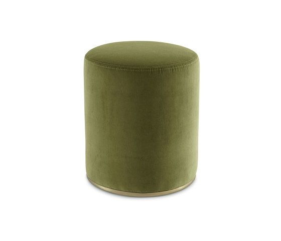 Gallotti&Radice,Footstools,cylinder,furniture,green,stool