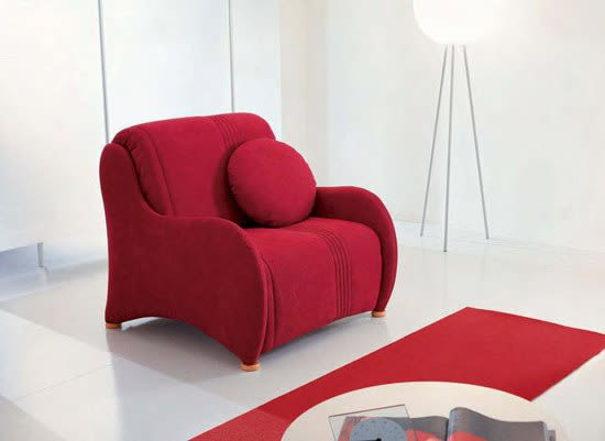 Bonaldo,Beds,chair,chaise longue,comfort,couch,design,furniture,interior design,red,room