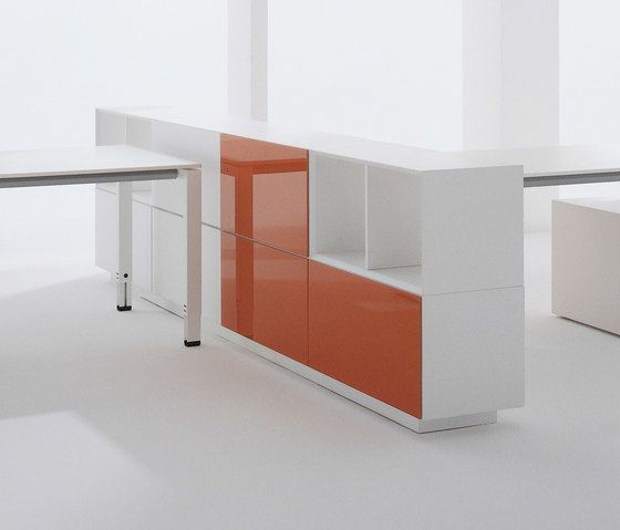 Hund Möbelwerke,Cabinets & Sideboards,desk,furniture,line,material property,orange,product,room,shelf,sideboard,table