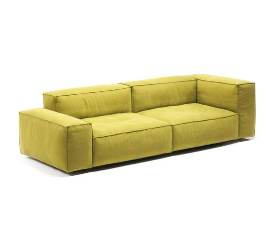 Living Divani,Sofas,beige,couch,furniture,leather,rectangle,sofa bed,studio couch,yellow
